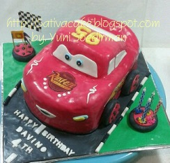the cars cake 3D davino birthday