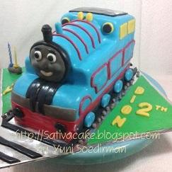 cake ultah thomas 3D buat dion