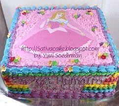 rainbow cake (cake pelangi)