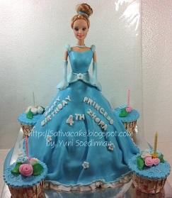 princess cake 3D buat zhora