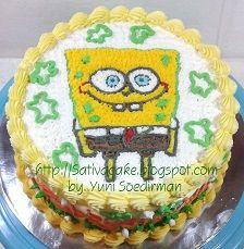 spongebob cake buat fabbyan