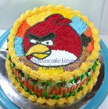 angry bird cake buiat Ahmad Janawa