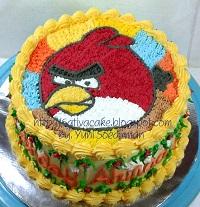 angry bird cake buat Ahmad Janawa