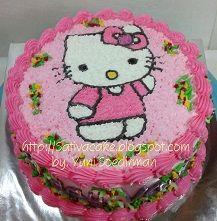 hellokitty cake buat Vanny