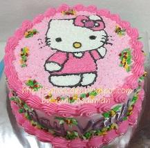 hellokitty cake pesanan mbak Dina