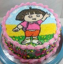 dora cake buat gendis
