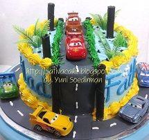 cake ultah the cars buat fathi