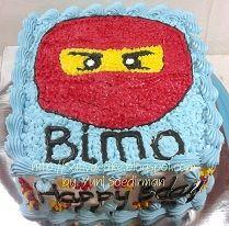 Cake ultah Ninja Go buat bimo