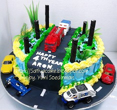 the cars cake ultah