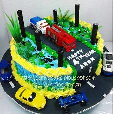 cake ultah cars