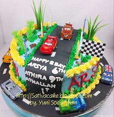 the cars cake pesanan mba Eti