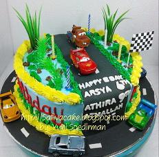 kue ulang tahun the cars