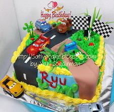 cars cake ultah