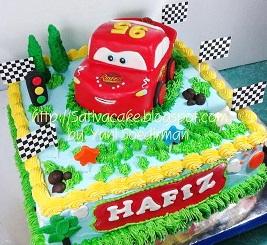 teh cars cake ultah 3D