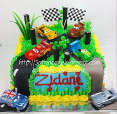 the cars cake pesanan mba Febriana