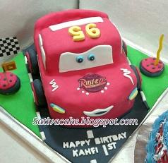 the cars cake 3D pesanan mbak nita