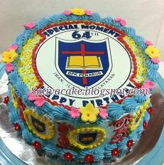 cake ultah edible pesanan mbak nita
