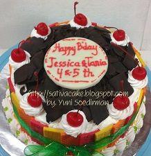 black forest cake pesanan mbak mian