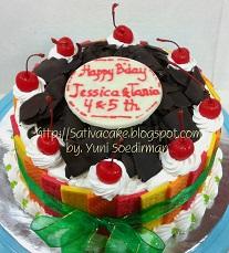 black forest cake untuk Jessica & Tania
