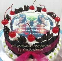 black forest cake pesanan mbak risky