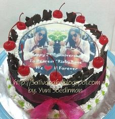 black forest cake dgn edible foto