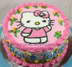 hellokitty cake buat Jessica & Tania