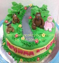 marsha & the bear cake buat rajwa
