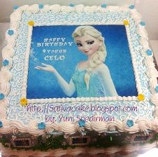 cake ultah frozen buat celo