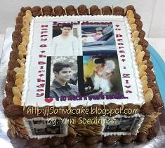 cake ultah edible foto buat Ziva