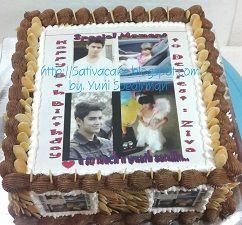 cake ultah dengan edible foto pesanan mbak risky