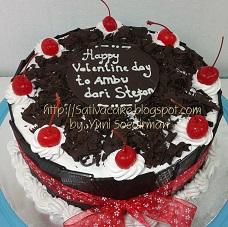 black forest cake pesanan mas evan