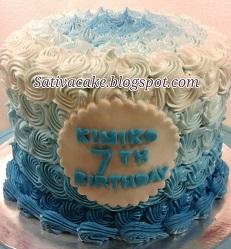 blue ombre cake buat kimiko