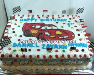 the cars cake buttercream pesanan pak Zhairi