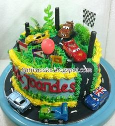 the cars cake buat erick