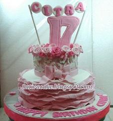 cake ultah sweet seventeen pesanan mbak liza