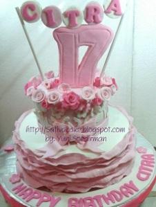 cake ultah sweet seventeen buat citra
