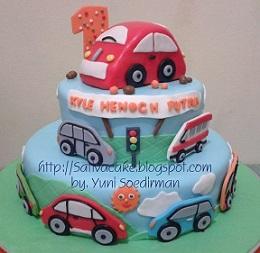 cake ultah pesanan mbak chella