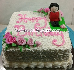 cake ultah pesanan i'i aichin