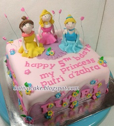 cake ultah karakter princess pesanan mbak hanin