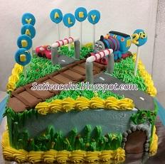 cake ultah tema thomas