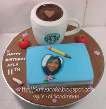 starbucks & diary cake 3D