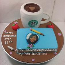 starbucks & diary cake 3D buat Alya