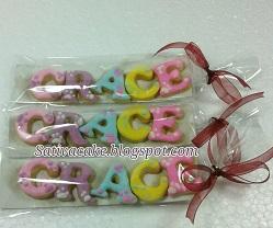Cookies nama pesanan mbak meta