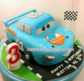 dinoco cake 3D