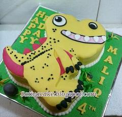 dinosaurus cake buat maliq