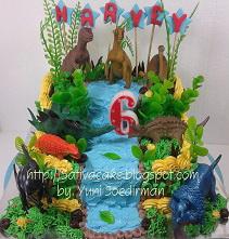 dinosaurus cake pesanan mbak fannie