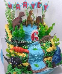 dinosaurus cake buat harvey