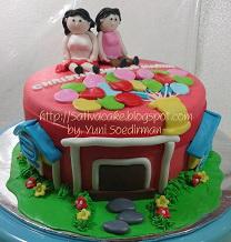 cake ultah 3D pesanan mbak christin