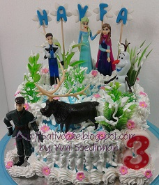 Frozen cake pesanan bu haswin