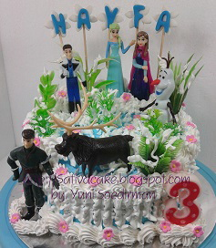 Frozen cake for Hayfa